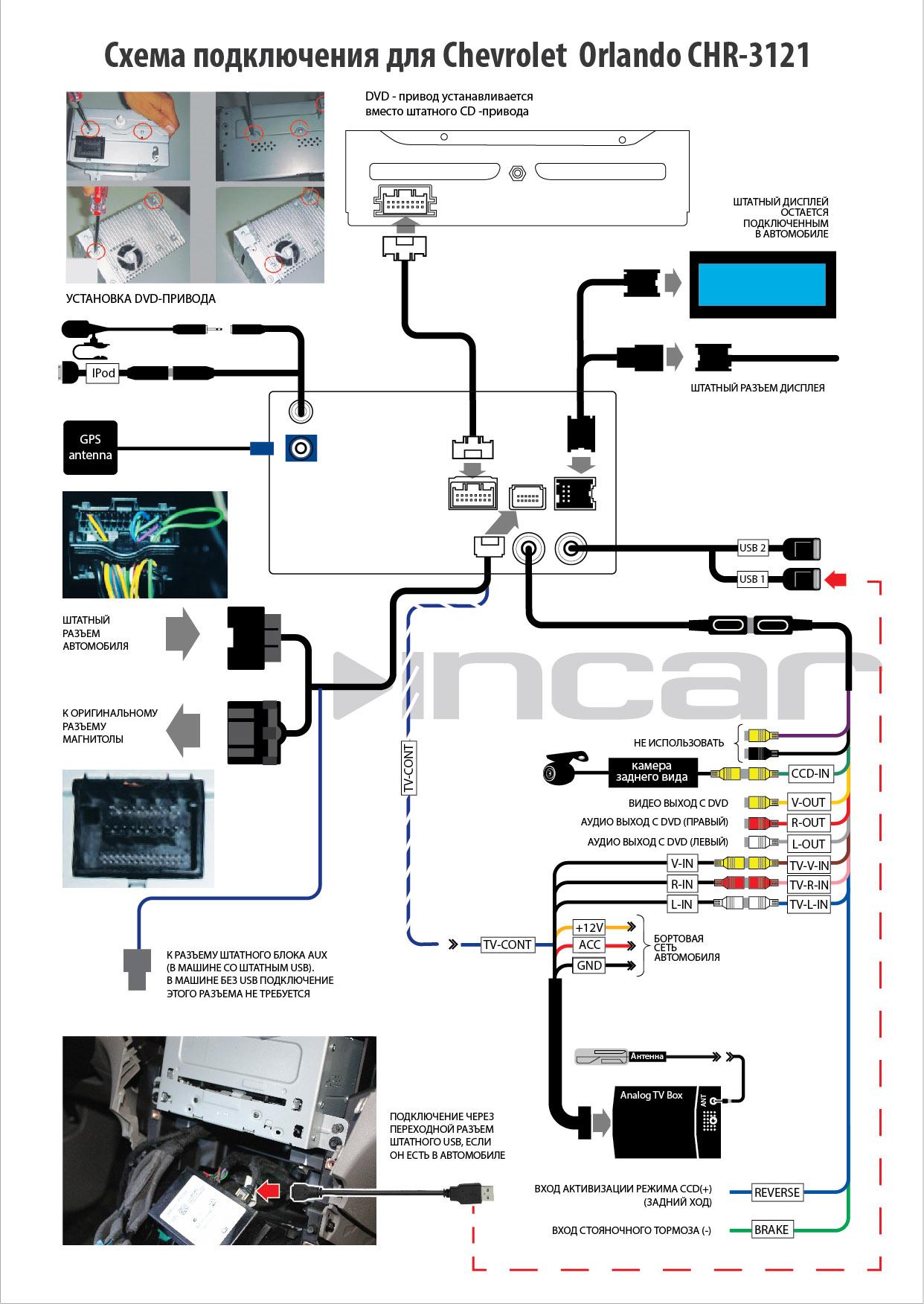 Схема установить автомагнитолу